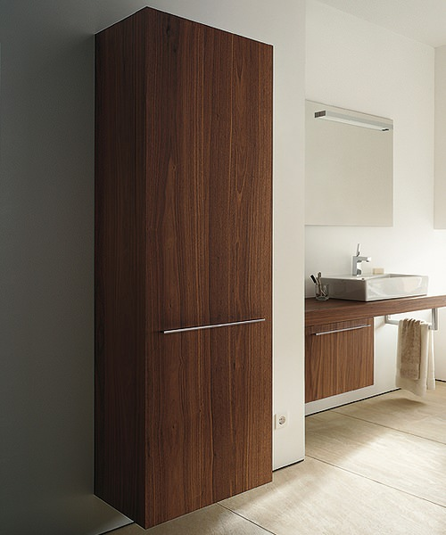 Duravit fogo american walnut finish 500mm tall cabinet for Kitchen cabinets 500mm