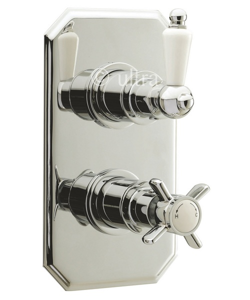 Ultra Beaumont Twin Concealed Thermostatic Shower Valve