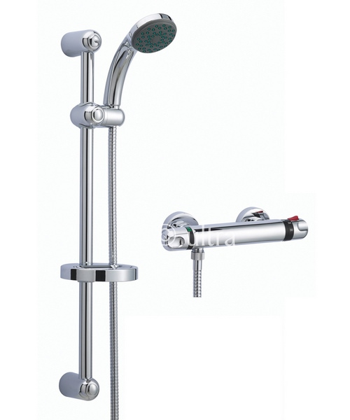 Ultra Dune Thermostatic Bar Shower Valve With Slide Rail Kit