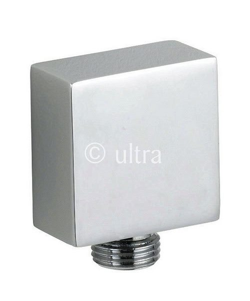 Ultra Square Outlet Elbow Chrome