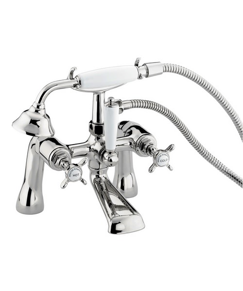 Bristan 1901 Chrome Plated Bath Shower Mixer Tap With Shower Kit