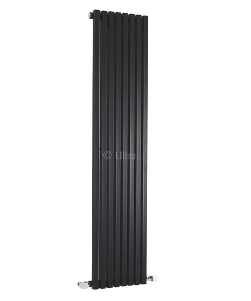 Ultra Kinetic High Gloss Black Designer Radiator 360 x 1800mm