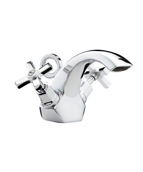 Bristan Art Deco Mono Basin Mixer Tap With Pop-Up Waste