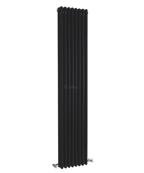 Ultra Colosseum High Gloss Black Triple Column 381 x 1800mm Radiator