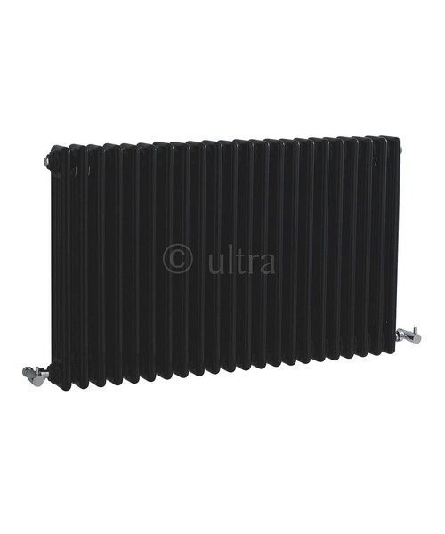 Ultra Colosseum High Gloss Black Triple Column 1011 x 600mm Radiator