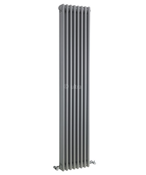Ultra Colosseum High Gloss Silver Triple Column 381 x 1800mm Radiator