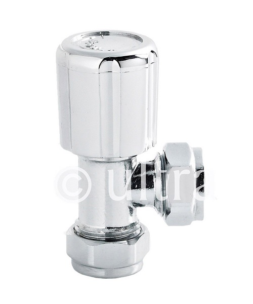Ultra Angled Chrome Finish Radiator Valves