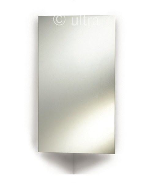 Ultra Avant Stainless Steel Corner Mirrored Cabinet