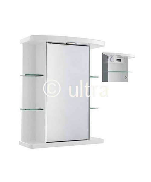 Ultra Congress Single Mirror Cabinet With Light And Digital Clock