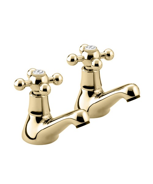Bristan Regency Gold Plated Bath Taps Pair