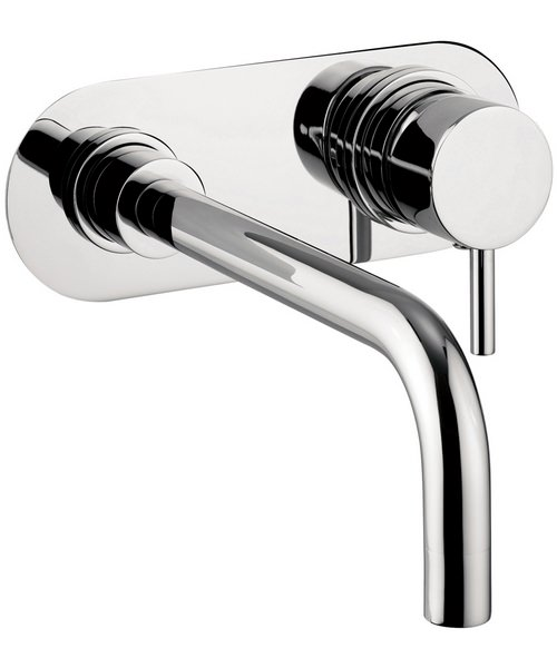 Crosswater Central Wall Mounted 2 Hole Basin Tap Set Chrome
