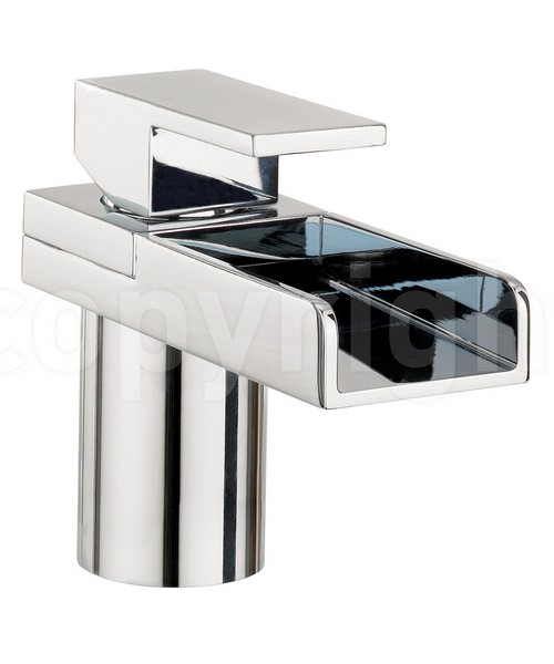 Crosswater Water Square Monobloc Basin Mixer Tap Chrome