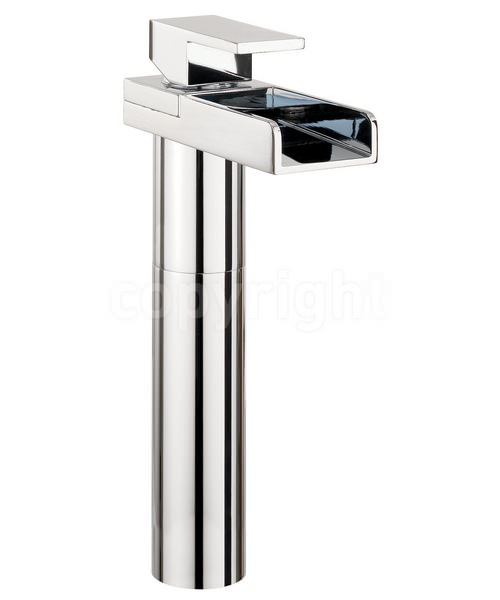 Crosswater Water Square Tall Monobloc Basin Mixer Tap Chrome