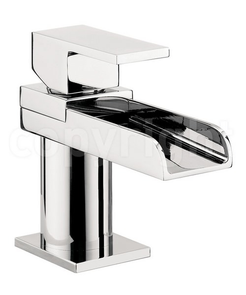 Crosswater Water Square Mini Monobloc Basin Mixer Tap Chrome