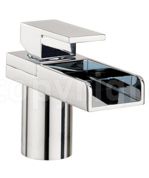 Crosswater Water Square Monobloc Basin Mixer Tap With Lights