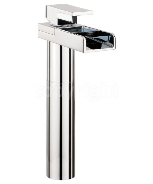 Crosswater Water Square Tall Monobloc Basin Mixer Tap With Lights