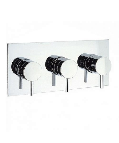 Crosswater Elite Thermostatic 3 Control Landscape Shower Valve
