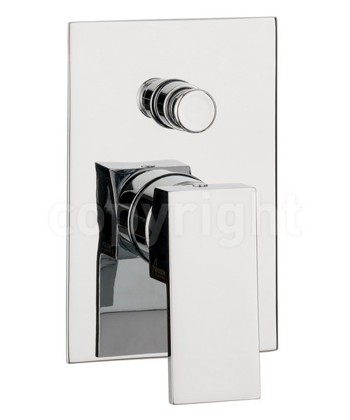 Crosswater Water Square Recessed Manual Shower Valve With Diverter