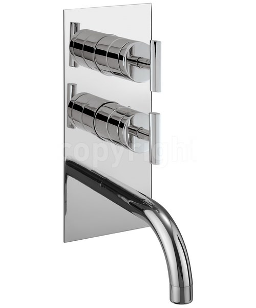 Crosswater Glide Thermostatic Shower Valve With Bath Spout And Diverter
