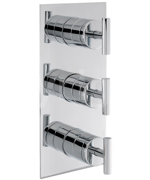 Crosswater Glide Recessed Thermostatic 3 Control Portrait Shower Valve