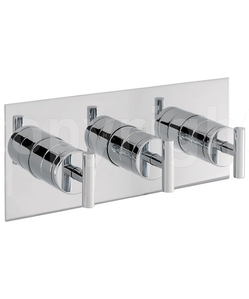 Crosswater Glide Recessed Thermostatic 3 Control Landscape Shower Valve