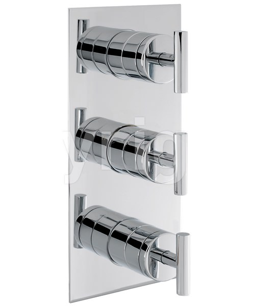 Crosswater Glide Portrait Thermostatic Shower Valve With 3 Way Diverter