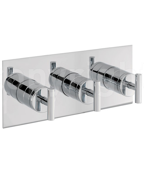 Crosswater Glide Landscape Thermostatic Shower Valve With 3 Way Diverter