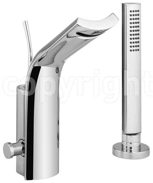 Crosswater Glide Deck Mounted Monobloc Bath Shower Mixer Tap With Kit