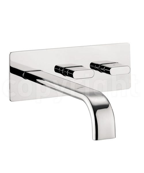 Crosswater Edge Wall Mounted Bath Filler Tap Chrome
