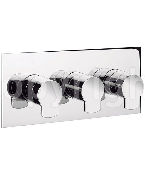 Crosswater Wisp Thermostatic 3 Control Landscape Shower Valve
