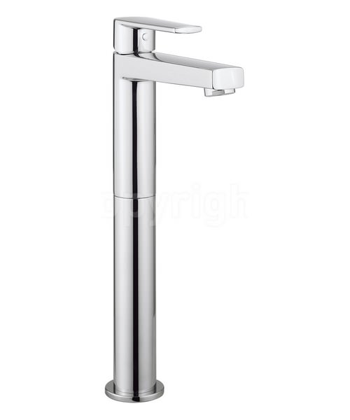 Crosswater Solo Tall Monobloc Basin Mixer Tap Chrome
