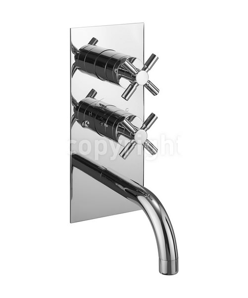 Crosswater Totti Thermostatic Shower Valve With Spout And Diverter