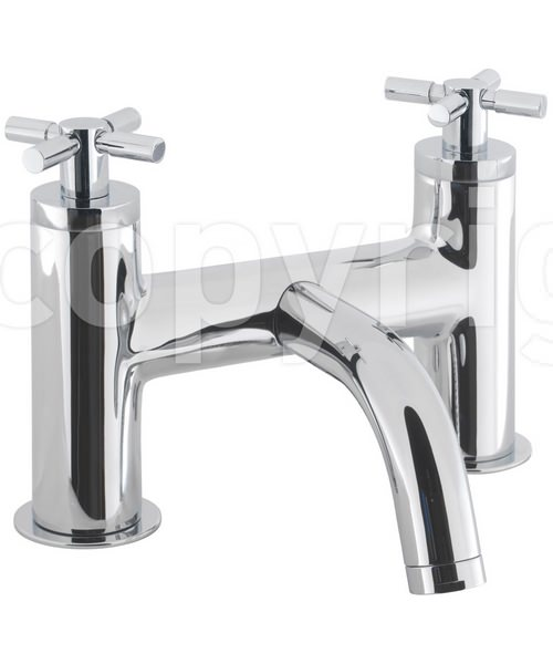 Crosswater Totti Deck Mounted Bath Filler Tap Chrome
