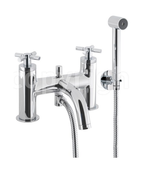 Crosswater Totti Bath Shower Mixer Tap With Kit Chrome