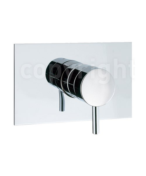 Crosswater Kai Lever Recessed Chrome Shut-Off Valve