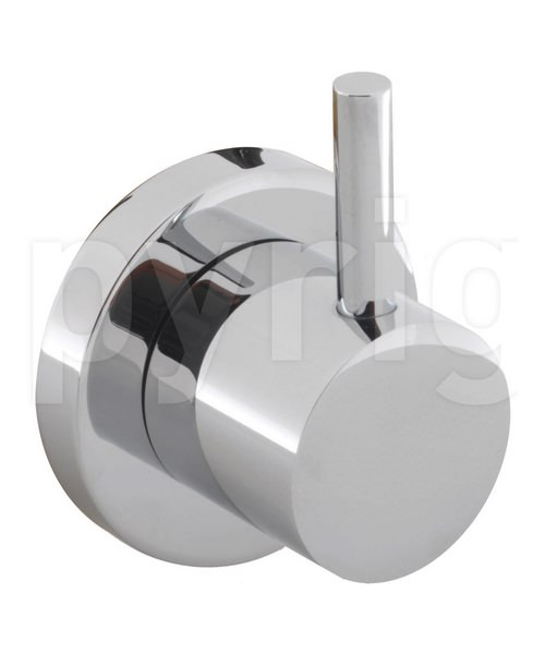 Crosswater Kai Lever 4 Way Wall Mounted Chrome Diverter Valve