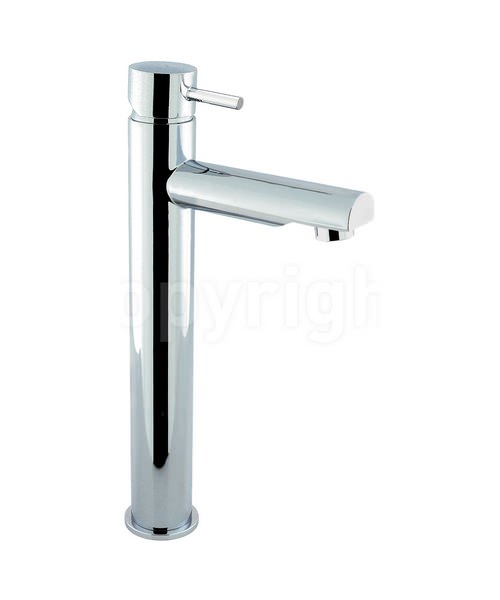 Crosswater Kai Lever Monobloc Chrome Fixed Spout Tall Basin Mixer Tap