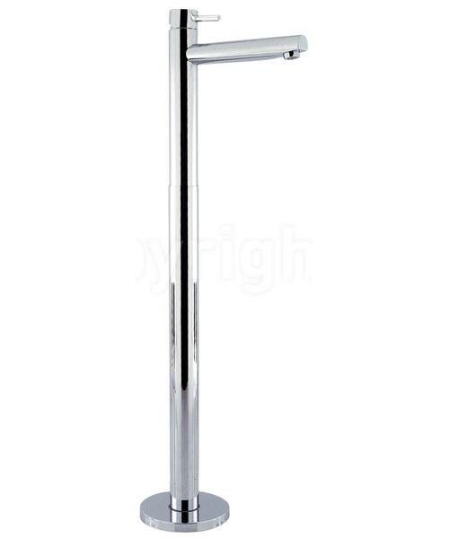 Crosswater Kai Lever Monobloc Floor Standing Chrome Bath Filler Tap
