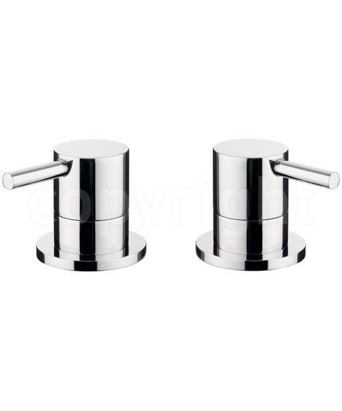 Crosswater Kai Lever Deck Mounted Chrome Pair Of Panel Valve