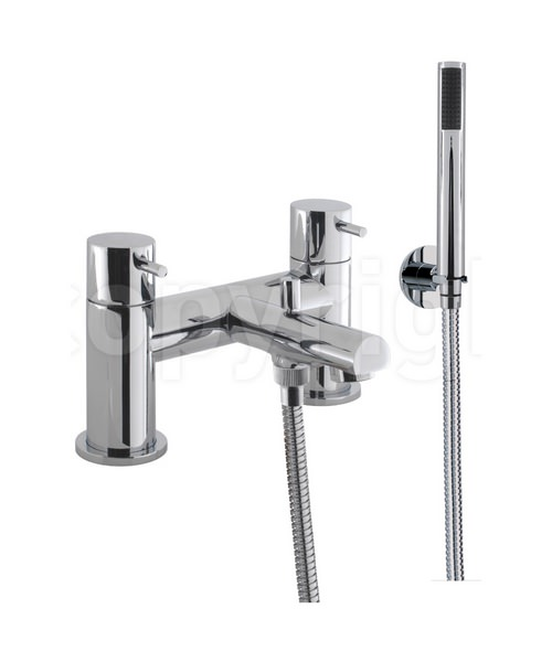 Crosswater Kai Lever Deck Mounted Chrome Bath Shower Mixer Tap With Kit