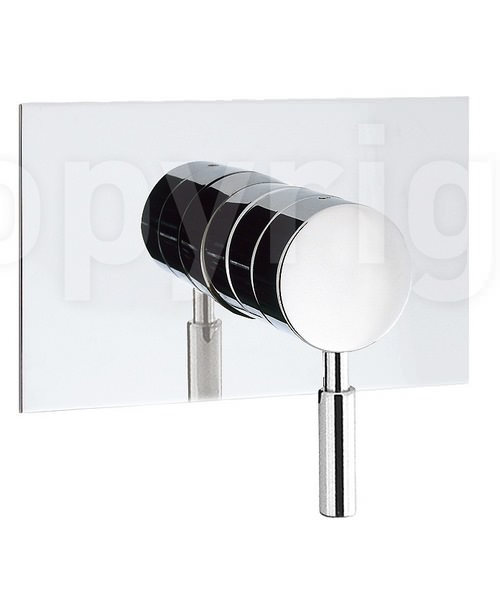 Crosswater Design Recessed Shut-off Valve Chrome