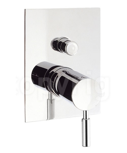 Crosswater Design Recessed Manual Diverter Shower Valve Chrome