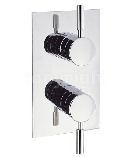 Crosswater Design Recessed Thermostatic Portrait Shower Valve