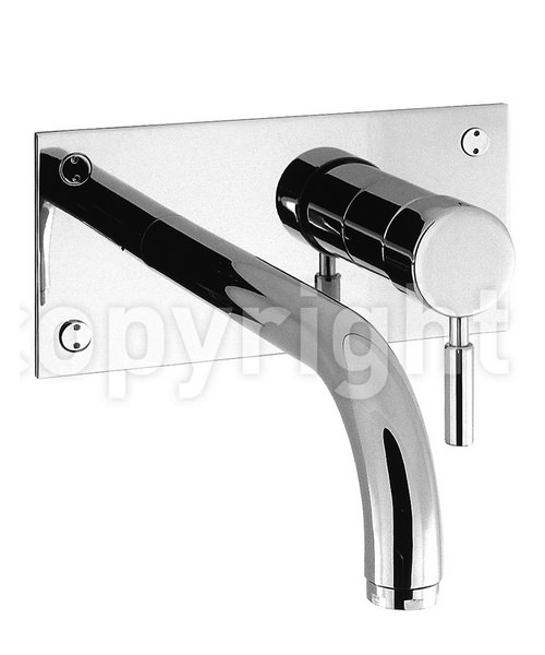 Crosswater Design 2 Hole Wall Mounted Basin Mixer Tap Chrome