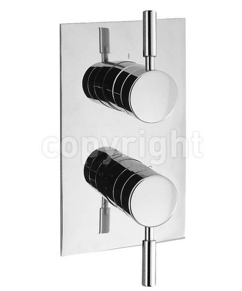 Crosswater Design Recessed Thermostatic 2 Way Diverter Shower Valve