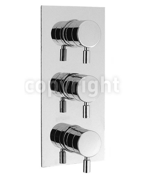 Crosswater Design Portrait Thermostatic 3 Way Diverter Shower Valve