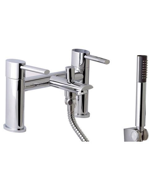 Phoenix OL Series Deck Mounted Bath Shower Mixer Tap Chrome