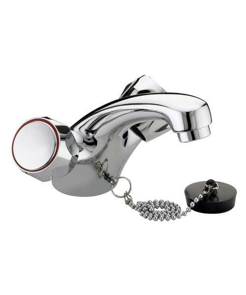 Bristan Value Club Chrome Basin Mixer Tap Without Waste