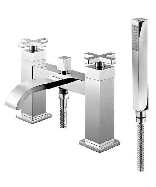 Phoenix DC Series Deck Mounted Bath Shower Mixer Tap Chrome
