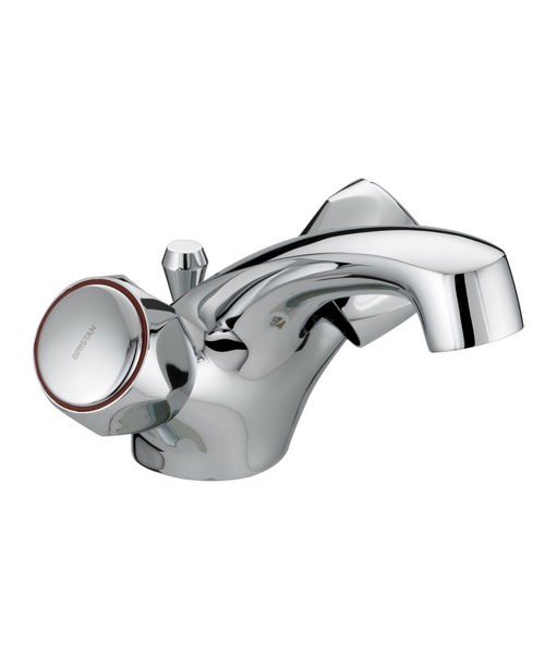 Bristan Value Club Dual Flow Basin Mixer Tap With Pop-Up Waste